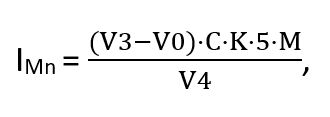 Формула расчета ХПК
