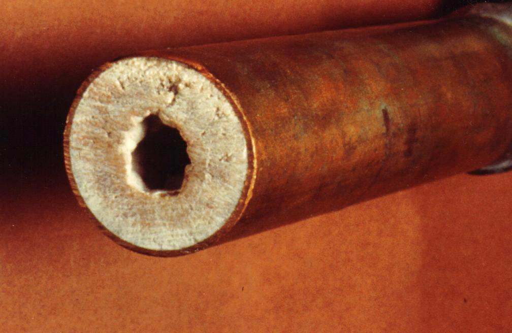 Кальцинирование водопроводной трубы