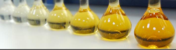 Шкала цветовой градации проб воды